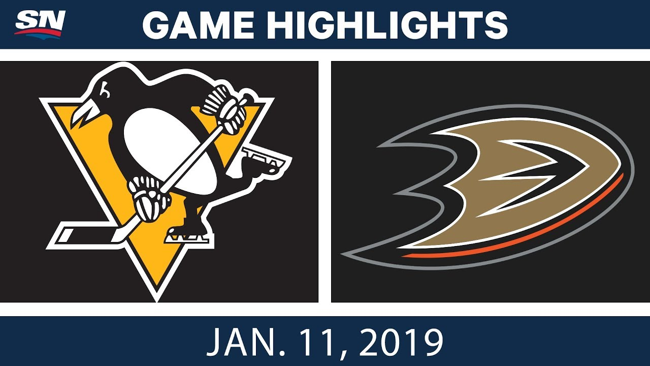 NHL Highlights | Penguins vs. Ducks - Jan. 11, 2019