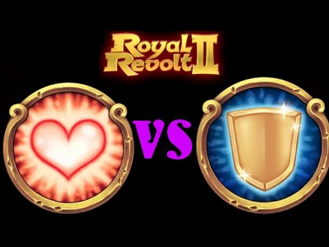 ROYAL REVOLT 2 - HEAL Vs SHIELD (spells Test)