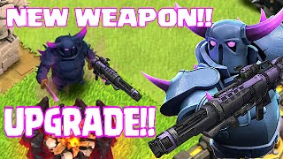 Clash Of Clans - NEW UPGRADE!! PEKKA CANNON V.2 (Swag Raids)