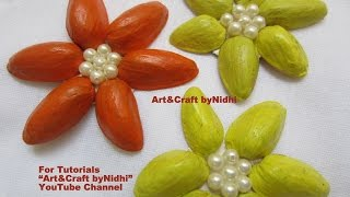 How to Make DIY Flower from Pista- Tips for Recycled Craft Art- Best from waste DECORE