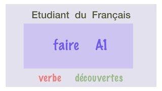 Урок французского языка Faire A1.