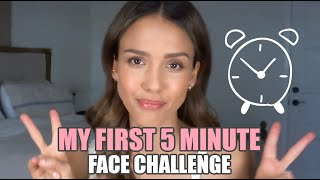 My First 5 Minute Honest Beauty Face Challenge!  Summer Edition | JESSICA ALBA