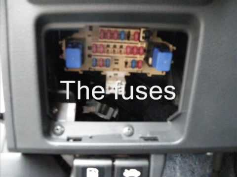 where are the fuses in my nissan versa? Nissan Cube Fuse Box