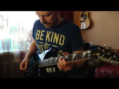 Morning guitar blues improvisation