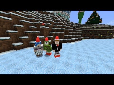 Minecraft: Snowman & Ice Skating Fun!
