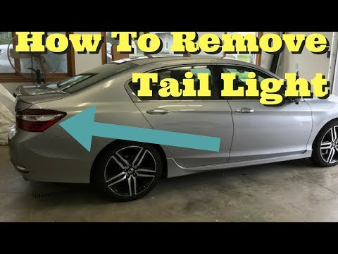 2013 2014 2015 2016 2017 Honda Accord Tail light Removal How to Remove Replace Install 4dr Sedan