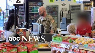 Veteran Can't Pay or Afford Food in San Antonio, Texas | What Would You Do? | WWYD(What will people do when a military veteran doesn't have enough cash to buy his groceries? Subscribe for new episodes from What Would You Do?, 2015-07-18T07:45:46.000Z)