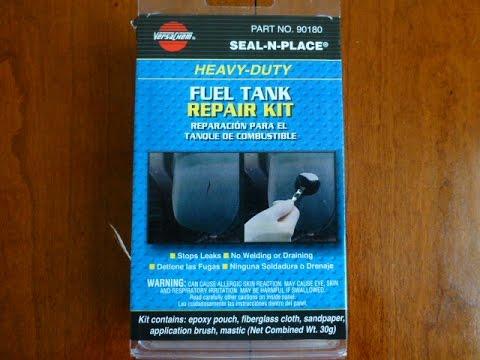 Plastic Fuel Tank >> VersaChem Gas Tank Repair Kit On 67 CJ Jeep - YouTube