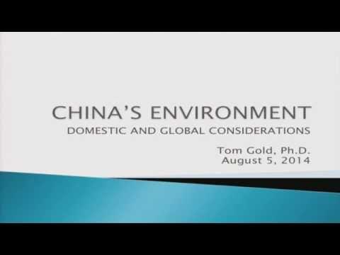 China's Environment, Domestic and Global Considerations - Thomas Gold