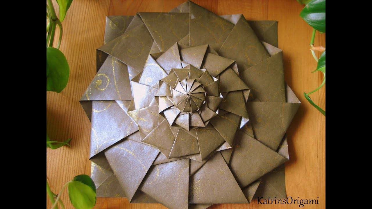 Origami flower tower youtube origami flower tower mightylinksfo