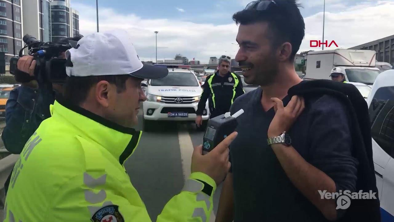 Polisin sürücüyle alkolmetre imtihanı: Lütfen dersen üflerim