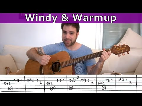 Fingerstyle Challenge #1 - Windy & Warm - Guitar Lesson w/ TAB