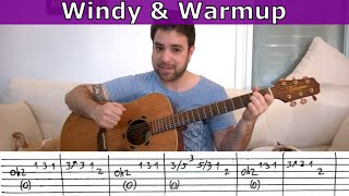 �������� ���� Fingerstyle Challenge #1 - Windy & Warm - Guitar Lesson w/ TAB ������