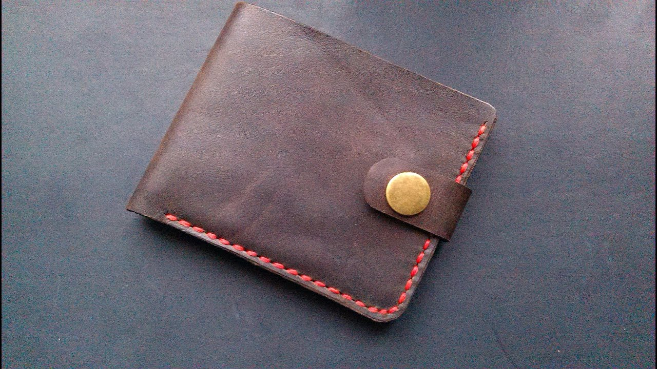 Мужской кожаный кошелек ручной работы VOILE cw1-blk-red купить в .