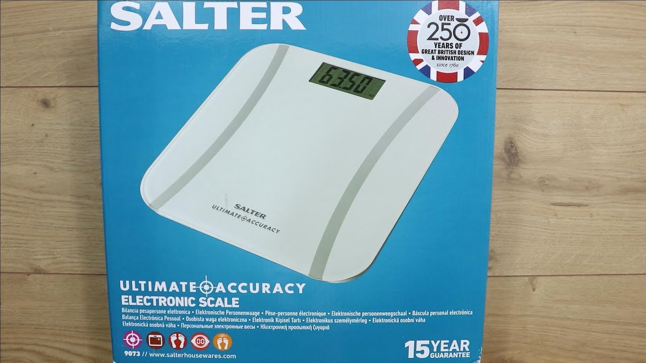 White Salter Ultimate Accuracy Digital Bathroom Scales 9073 WH3R17