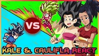 Kale and Caulifla React to Goku VS Kefla (Dragon Ball Super - Sprite Animation)
