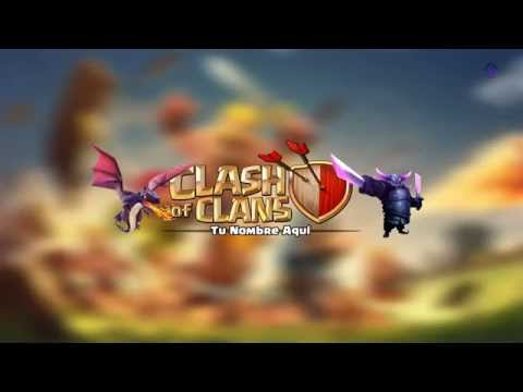 Diseño banner youtube (clash of clans)