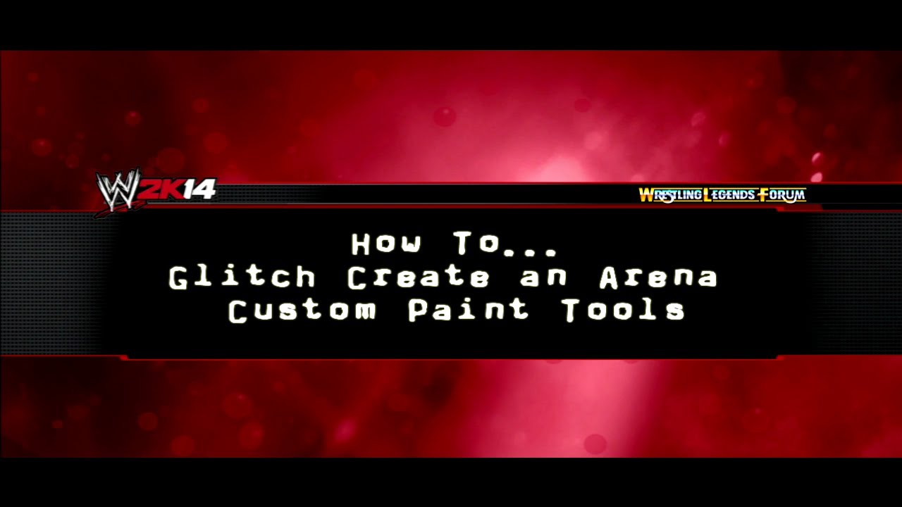 wwe 2k14 how to glitch custom logos onto a custom arena
