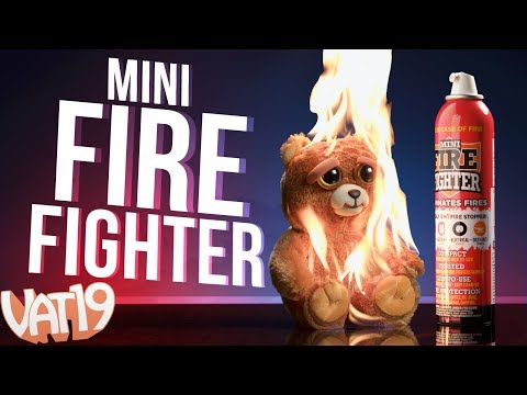 Mini Firefighter (Compact Fire Extinguisher) puts out Feisty Pets Fire