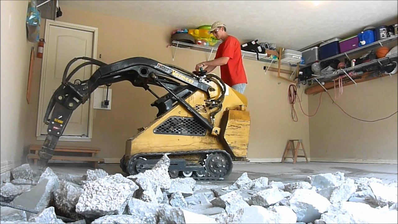 Garage Floor And Driveway Demo And Replacement Youtube