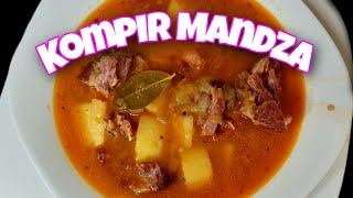 Smoked pork stew recipe  Kompir mandza  Macedonian food