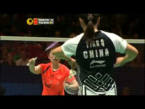 Final Wang Xiaoli Yu Yang vs Tian Qing Zhao Yunlei Yonex 2012 All England Open