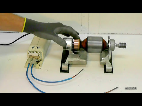 Strange rotation of an electric rotor video1 youtube for Red wing ball bearing ac motor