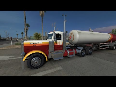 American Truck Simulator Flying J Gas Transporter with matching Truck