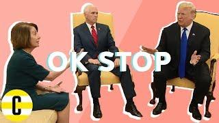 Trump and Nancy Pelosi make Mike Pence uncomfortable   OK, Stop!