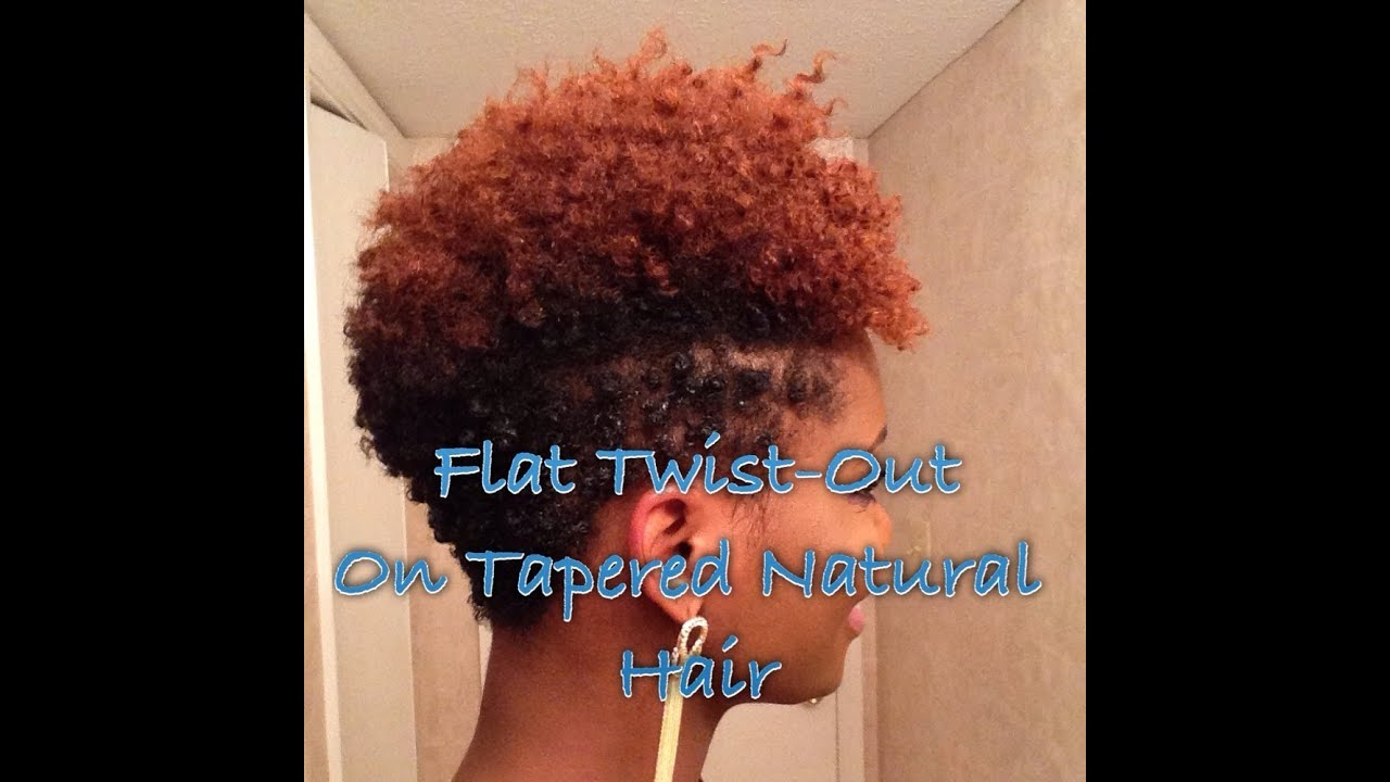How To Flat Twist Out On Tapered Natural Hair Youtube