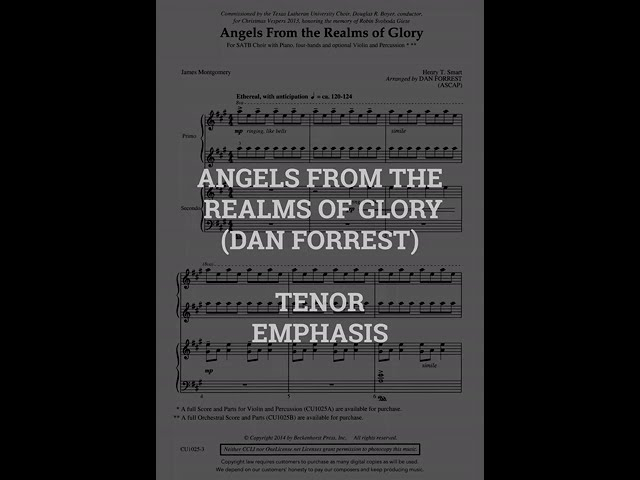 Angels From The Realms of Glory   TENOR