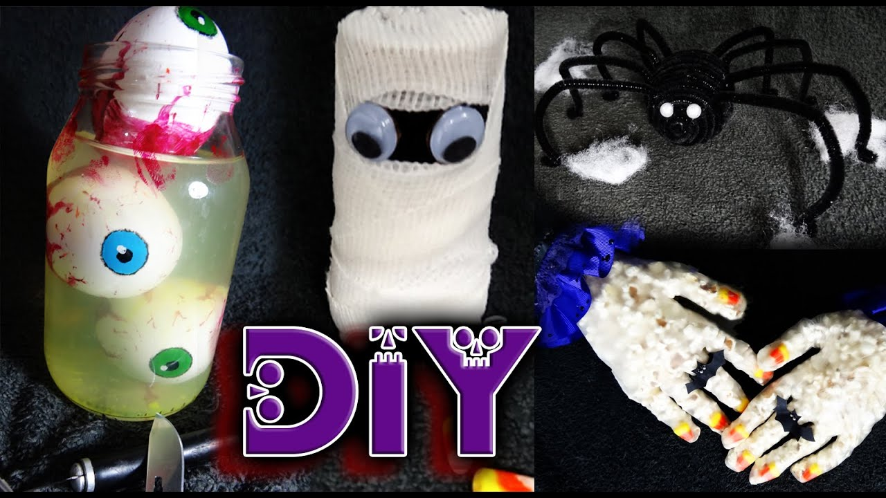 Diy 4 ideas para decorar en halloween d a de muertos - Como decorar halloween ...