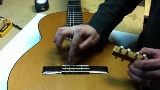 Installing the K&K Sound Pure Classic transducer pick-up on a classical guitar