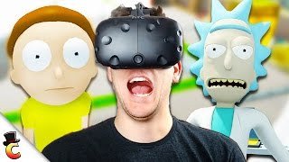Wubalubadubdub!!! - Rick and Morty: Virtual Rick-ality - Rick and Morty VR HTC Vive - Part 1