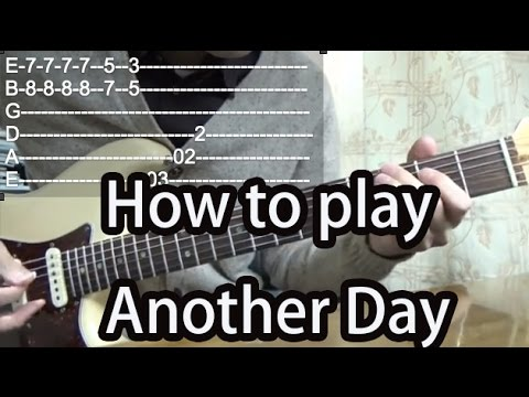 How to play Another Day-Paul McCartney-Guitar Tutorial with tabs