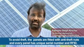 Video solar water pumps and drip irrigation technology. Rajisthan, India.
