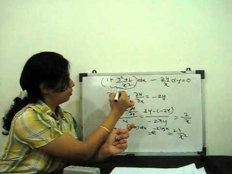 reducible to exact differential equation - Part 1 - YouTube