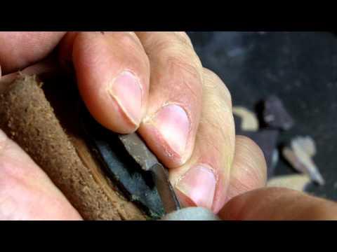 365 - Wyoming Oil Chert JUL 2015 ROCK CHALLENGE 5/6 Thin Flake Arrowhead