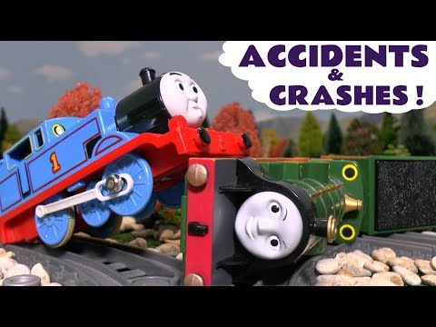 Thomas The Tank Engine Accidents and Crashes with Toy Trains Fun for kids and children TT4U