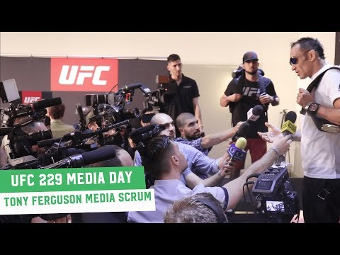 Tony Ferguson holds court at a rammed UFC 229 Media Day