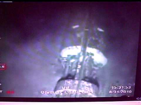 Underwater Wreckage and Seabed Eruption Footage at Deepwater Horizon Live feed ROV