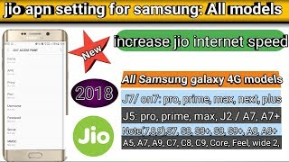 jio apn setting for samsung j7 in hindi / jio apn settings for Samsung hindi