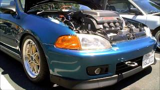 1992-1995 EG Honda Civic coupe with J32 V6 Swap and Skunk 2 Intake Manifold
