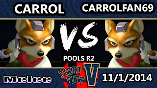 FPV - PGH Carrol (Fox) Vs. Carrol Fan 69 (Blue) SSBM Pools R2 - Melee