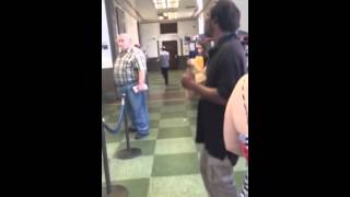 Waiting in Line at the Post Office