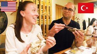 炉端焼き!高級魚、車海老、和牛を外国人夫婦が堪能!Robatayaki in Tokyo!