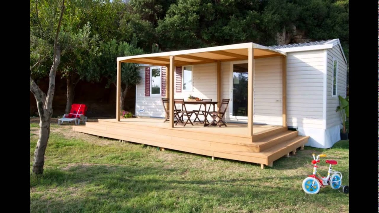 Verande per case mobili terrazze per casa mobile ecototo for Casa mobile in legno