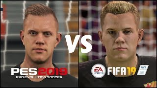 Download Fifa 19 Vs Pes 2019 Barcelona Players Faces Comparison