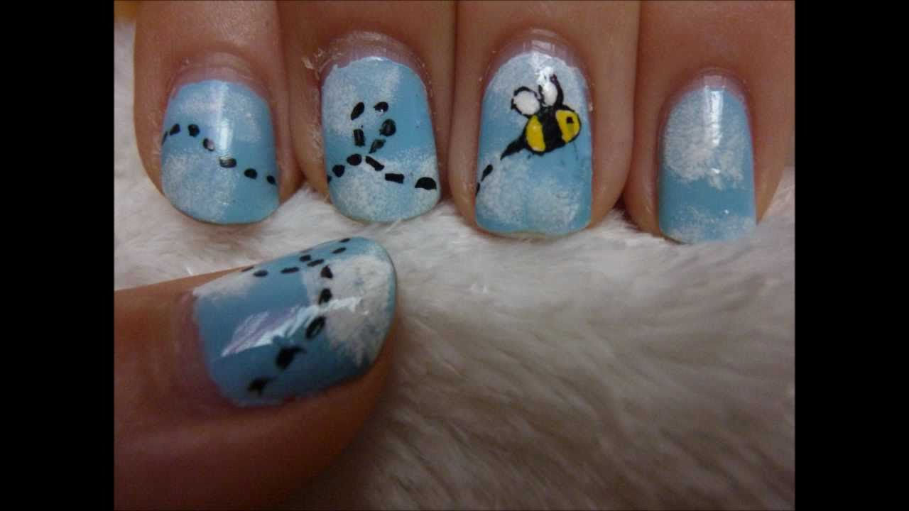 Bumblebee nail art youtube bumblebee nail art prinsesfo Image collections