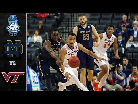 Notre Dame vs. Virginia Tech ACC Basketball Tournament Highlights (2018)
